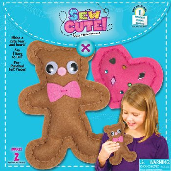 Sew Cute! Bear w/ Heart Felt Sewing Kit