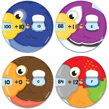 Math Wheels: Division Facts