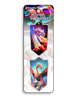 Dragons 3D Magnetic Bookmark