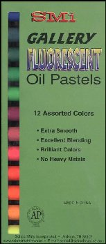 Flourescent Artists' Oil Pastels - Set of 12