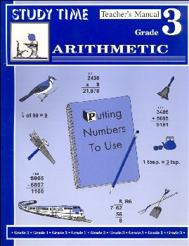 Study Time Arithmetic - Tchr Manual, Grade 3