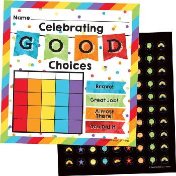 Mini Incentive Charts with Stickers - Celebrate Learning