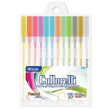 Collorelli Pastel Color Gel Pens - 12 count