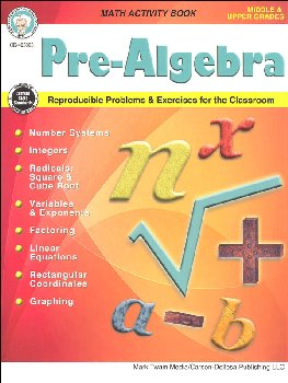 Pre-Algebra Math Activity Book
