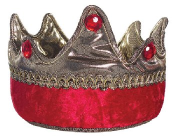 King Crown - Gold/Red