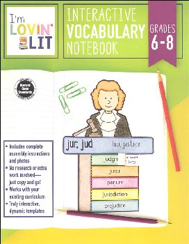 Interactive Vocabulary Notebook - Grades 6-8 (I'm Lovin' Lit)
