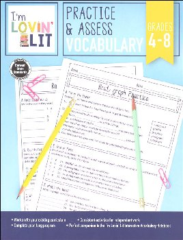 Practice & Assess Vocabulary - Grades 4-8 (I'm Lovin' Lit)