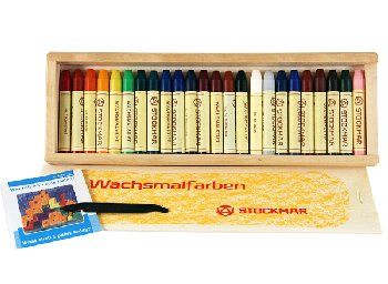 Stockmar Wax Crayons(24 Crayons in Wooden Bx)