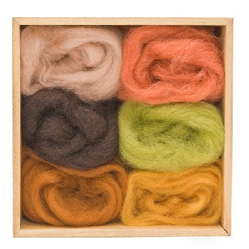Woolpets Wool Roving (1.5 oz bag) - Earth