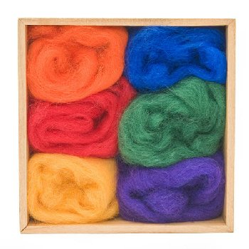 Woolpets Wool Roving (1.5 oz bag) - Rainbow