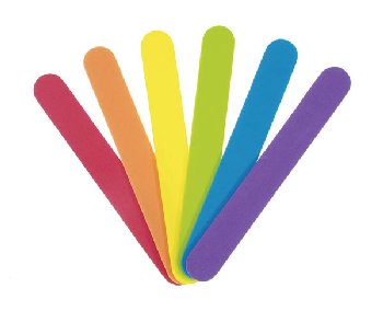 "Foam Craft Sticks Bright Colors - 6"" (125 pieces)"