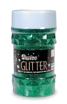 Glitter Shaker Top Jar - Green (4oz/76 grams)