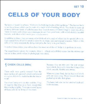 Cells of Your Body Microslide Lesson Set
