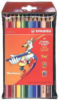 Thick Trio Colored Pencils - Set of 12