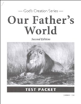 Our Father's World Test Packet Second Edition