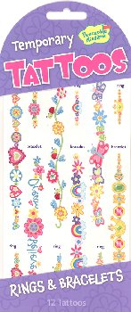 Rings & Bracelets Temporary Tattoos