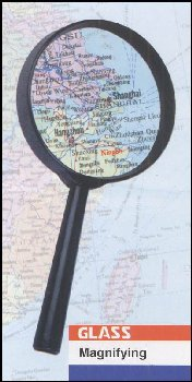 Round Magnifier 1.5x - Plastic Frame, 3""
