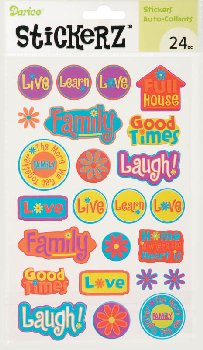 StickerZ: Live, Love, Laugh (24 pieces)
