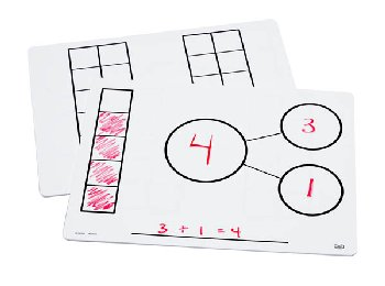 Write-On/Wipe-Off Five-Frame/Ten-Frame Mat