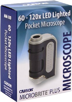 MicroBrite Plus 60x-120x LED Lighted Pocket Microscope