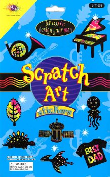 Scratch Art Stickers Magic Design Your Own