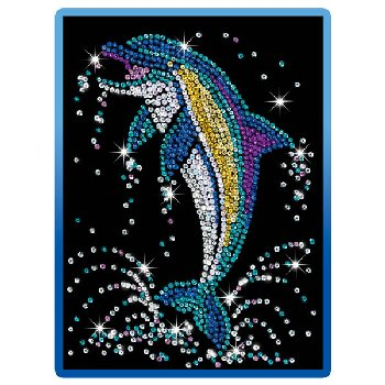 Sequin Art Blue Dolphin