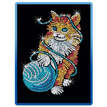 Sequin Art Blue Kitten