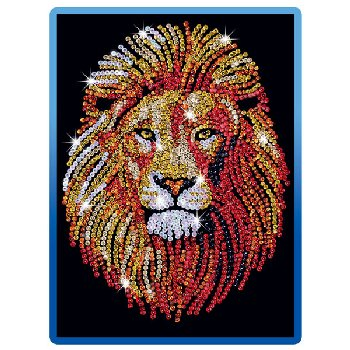 Sequin Art Blue Lion