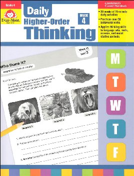 Daily Higher-Order Thinking: Grade 4
