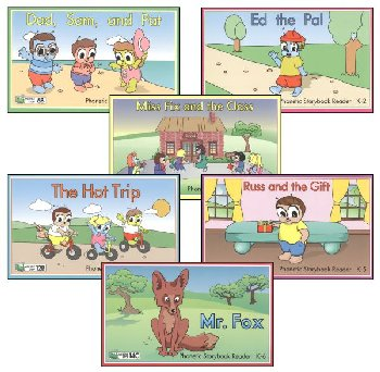 Phonetic Storybook Readers - Kindergarten Set of 1-6 Homeschool Edition