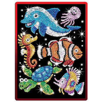 Sequin Art Red Aqua Sealife