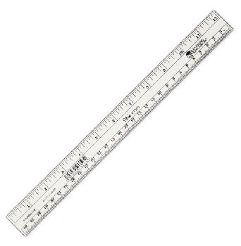 Safe-T Flat Flexible Clear Ruler (12in/30CM)