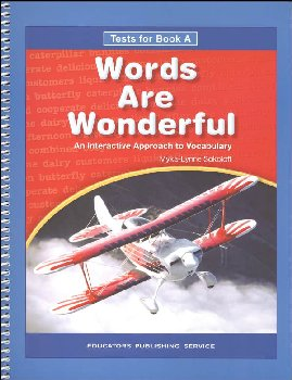 Words Are Wonderful Test Book A Blackline Masters