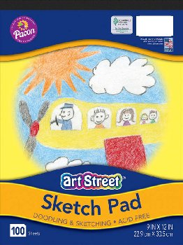 "Art Street Sketch Book, Padded (9""x12"")"