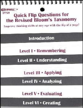 Quick Flip Questions for Rev Bloom's Taxonomy