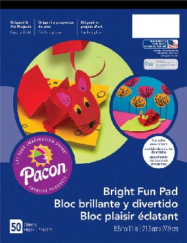 "Bright Fun Pad, Assorted Colors (8.5""x11"")"