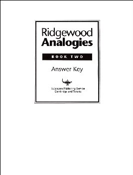 Ridgewood Analogies Book 2 Teacher Guide