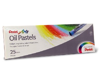 Pentel Oil Pastels 25-color Set
