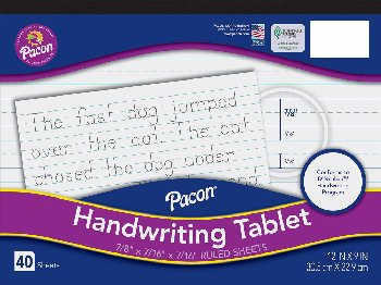"Multi-Program Handwriting & Picture Story Paper - 7/8"" ruled"