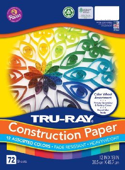"Tru-Ray Color Wheel Assorted Colors (12"" x 18"")"