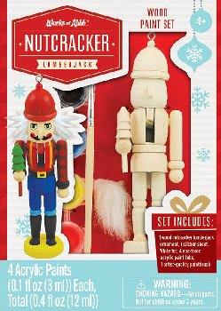 Mini Lumberjack Wood Ornament & Paint Kit