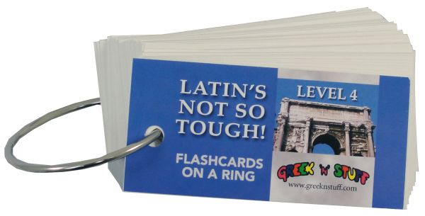 Latin's Not So Tough Flashcards on a Ring Level 4