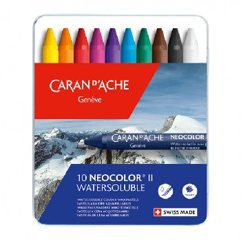 Neocolor II Water-Soluble Pastels (Metal Box of 10)