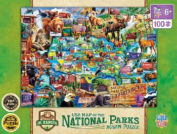 National Parks USA Map Puzzle (100 piece)