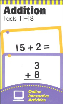 Flashcards - Addition Facts 11-18