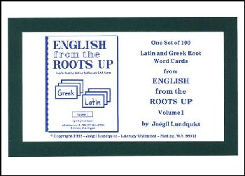 English from the Roots Up Vol. I Word Cards