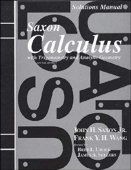 Saxon Calculus 2ED Solution Manual