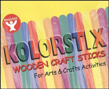 Craft Sticks (colored) box of 500