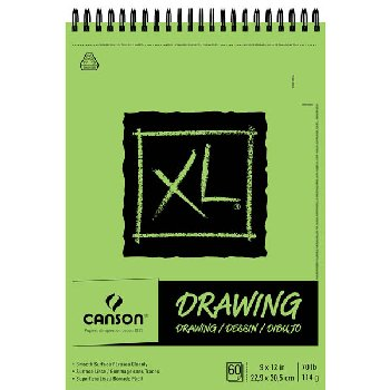 "Canson XL Drawing Pad - 9"" x 12"" 60 Sheets"