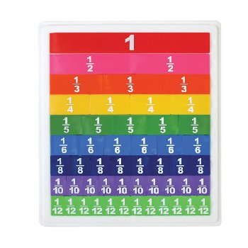 Fraction Tiles with Tray set of 51